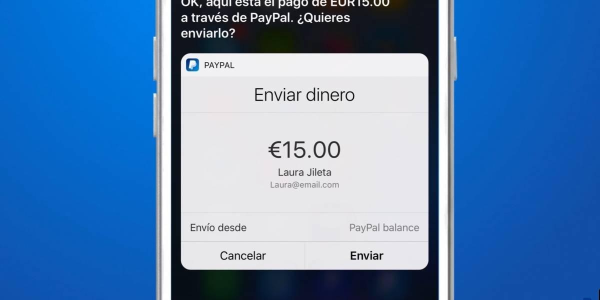 Ya puedes enviar dinero por PayPal utilizando a Siri