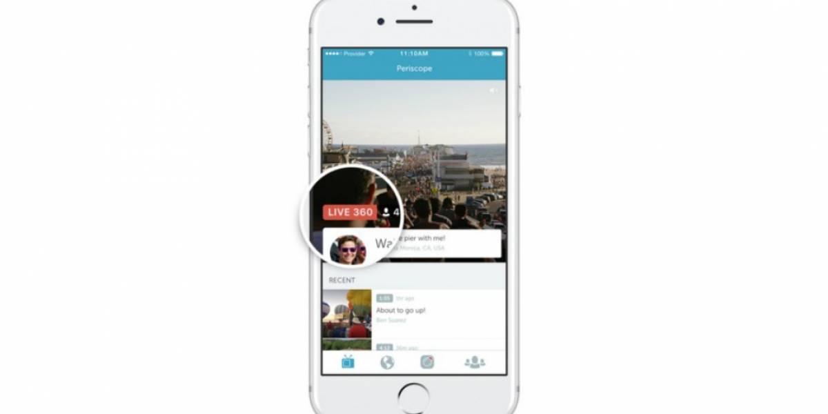 Periscope para Android ahora soporta transmisiones en 360 grados
