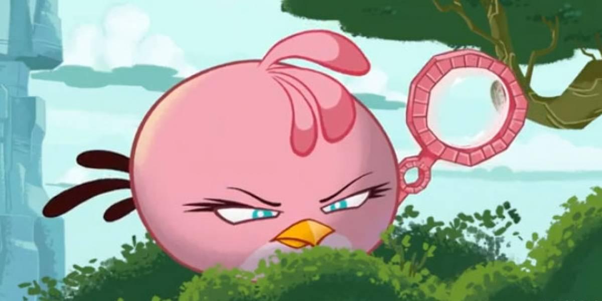 PinkBird pone la nota femenina en la lucha contra los cerdos en Angry Birds