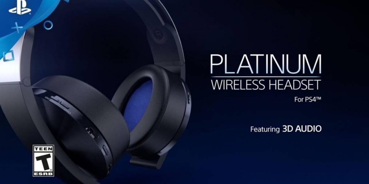Ya hay fecha de lanzamiento para el headset Platinum de PlayStation 4