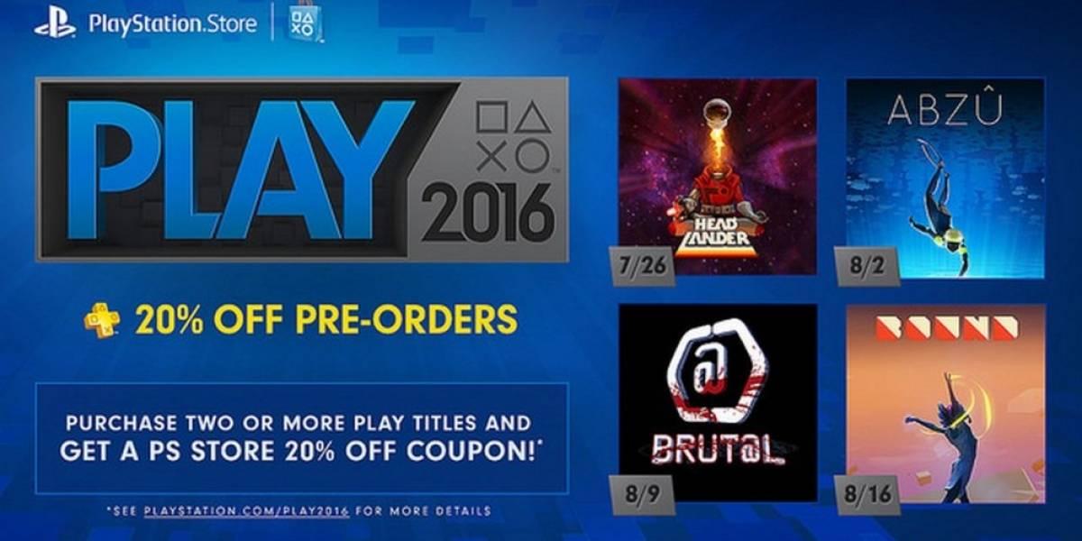 Se anuncian los juegos que integran la promoción PLAY 2016 en PlayStation Store