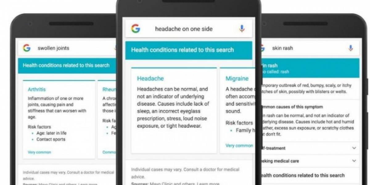 Google implementará soporte para resolver tus dudas médicas