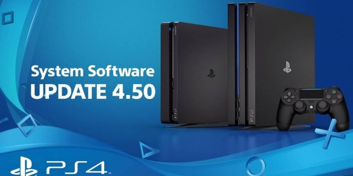 Mañana llega la actualización 4.50 del software del sistema de PS4