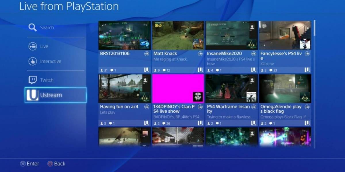 Sony terminará servicio de Ustream en PlayStation