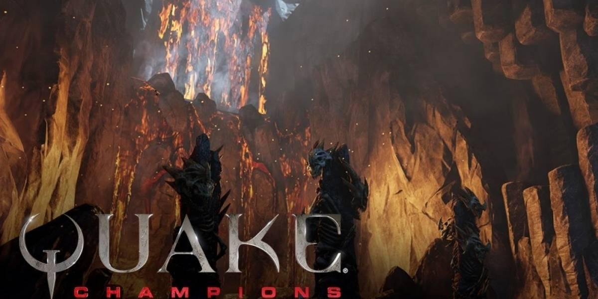 Quake Champions tiene nuevo tráiler que nos muestra la arena Burial Chamber