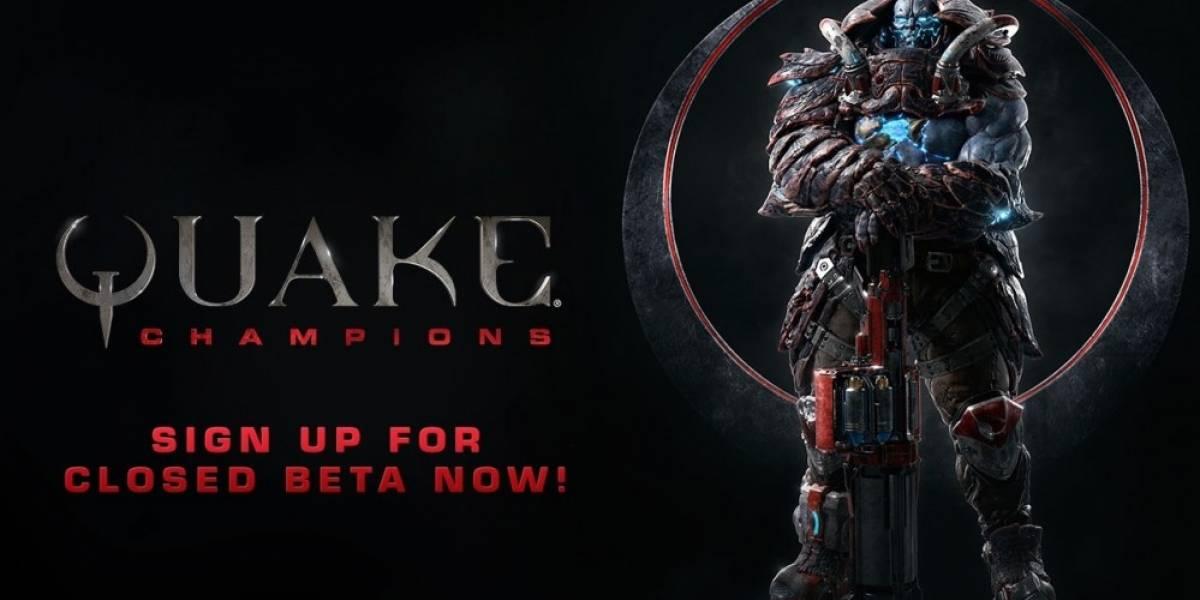 Ya pueden registrarse para la Beta cerrada de Quake Champions