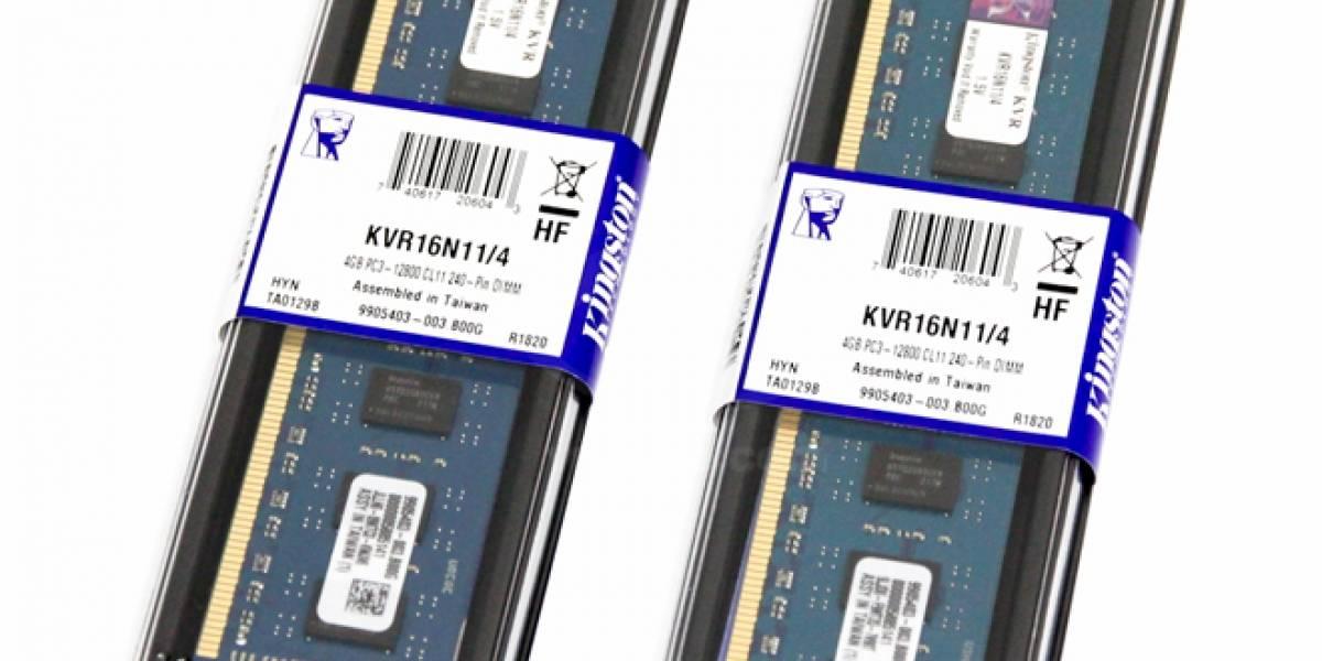 Kingston y sus memorias RAM de USD$19 que llegan a los 2400MHz