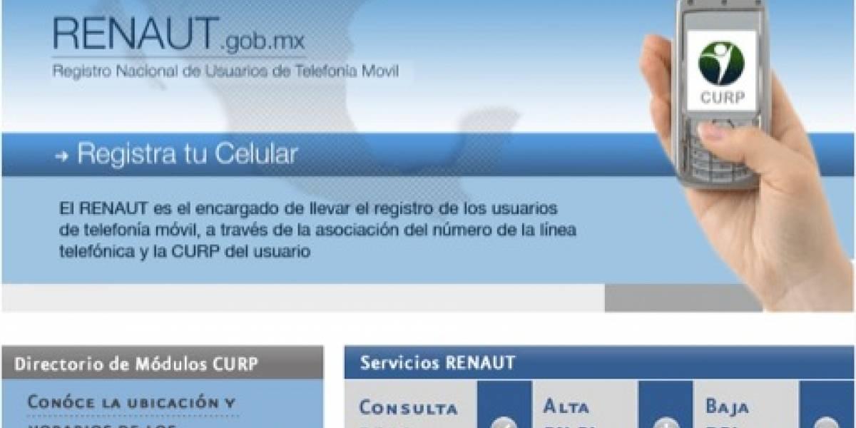 RENAUT: El registro de celulares en México ya comenzó