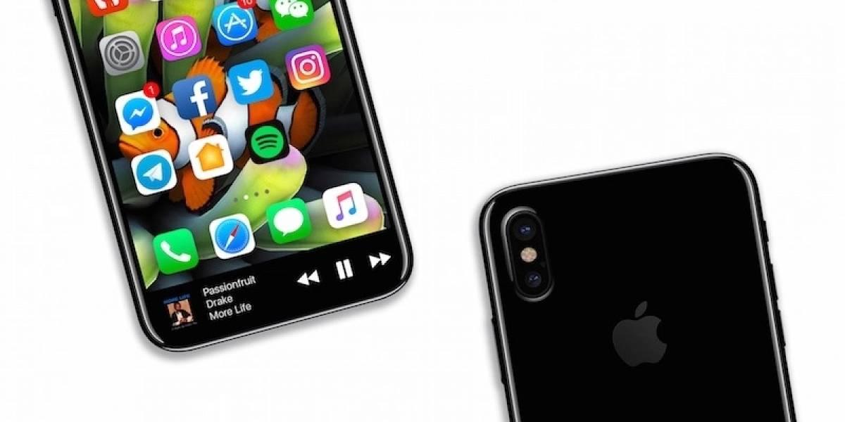 Render conceptual junta rumores para mostrar apariencia del iPhone 8