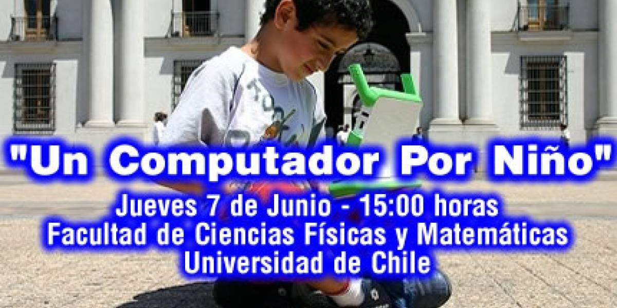 """Presentación Campaña """"Un Computador por Niño"""" en Universidad de Chile"""