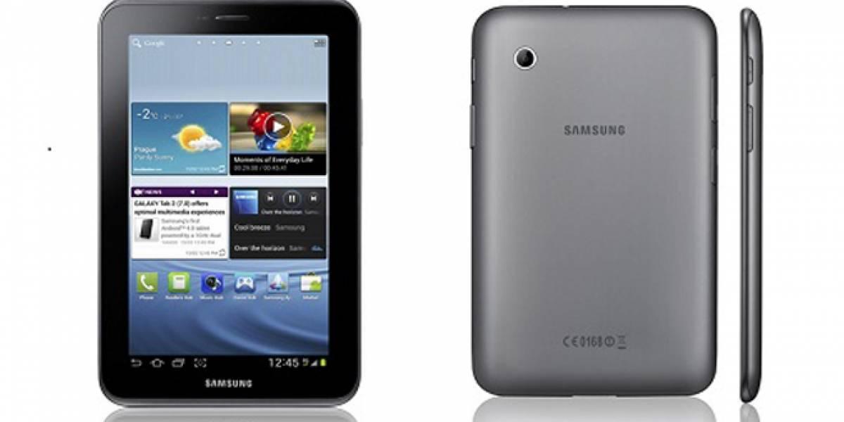 """Samsung Galaxy Tab 2 de 7"""" se venderá por USD$250"""