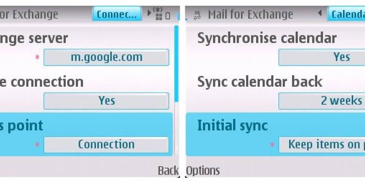Google Sync Beta para Symbian S60