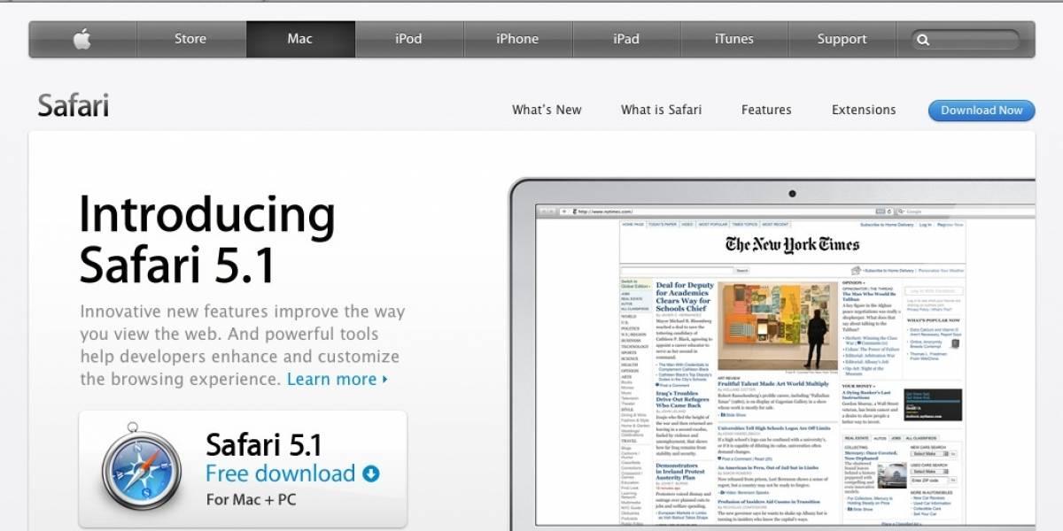 Safari al fin sobrepasa cuota de mercado del 5%