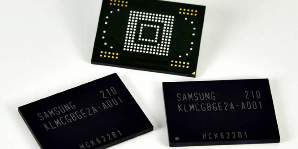 Samsung comienza la producción de las memorias flash NAND para móviles más rápidas del planeta