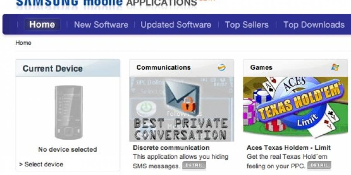 Tienda de aplicaciones Samsung