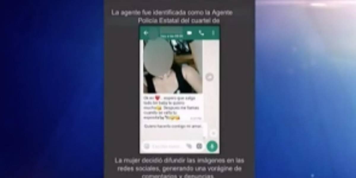 Policía investiga alegadas fotos íntimas de mujer policía