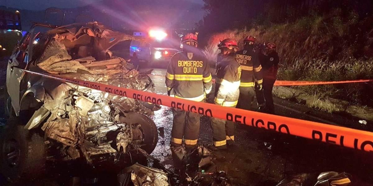 Un fallecido tras accidente de tránsito en vía Papallacta-Pifo
