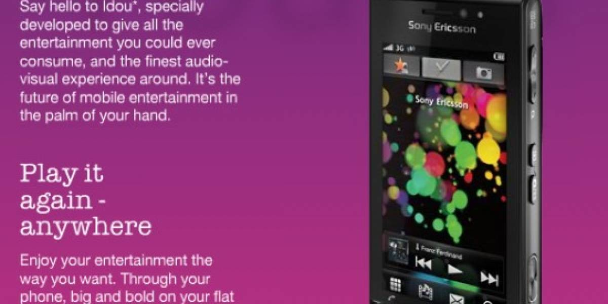MWC09: Sony Ericsson presenta el Idou