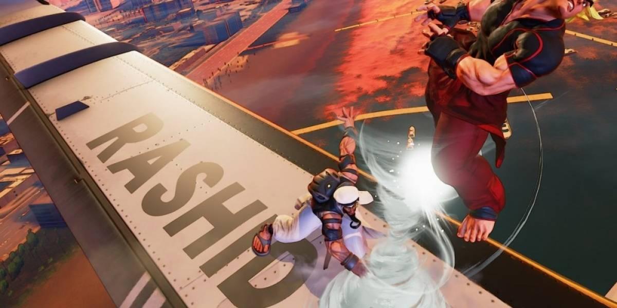 El nuevo escenario de Street Fighter V permite luchar sobre un avión