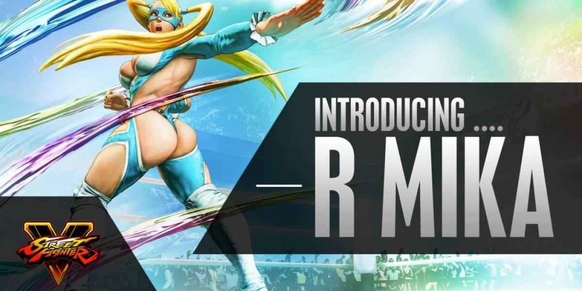 Capcom presenta a R. Mika, Cammy, Ryu y M. Bison en Street Fighter V