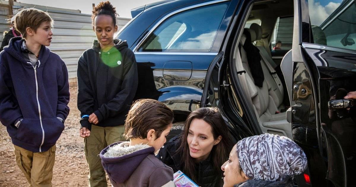 Shiloh Zahara Angelina Jolie campo de refugiados Zataari