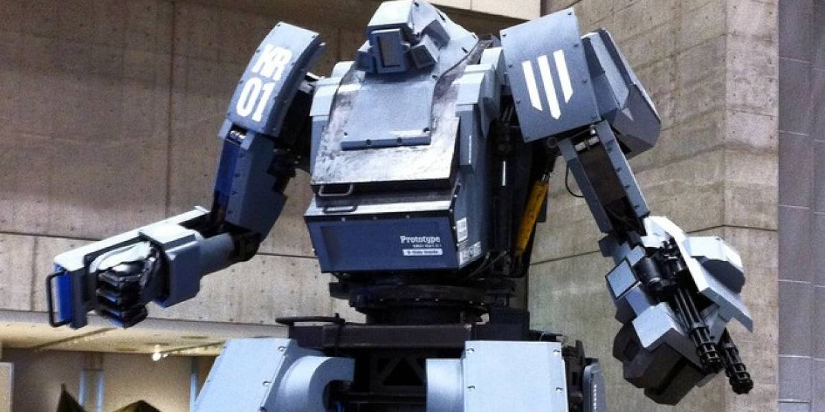 Compra tu robot mecha de 4 metros que dispara con tu sonrisa