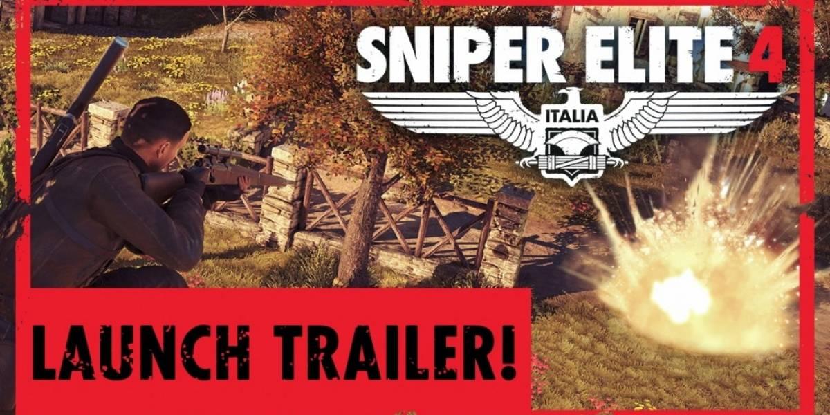 Vean el tráiler de lanzamiento de Sniper Elite 4
