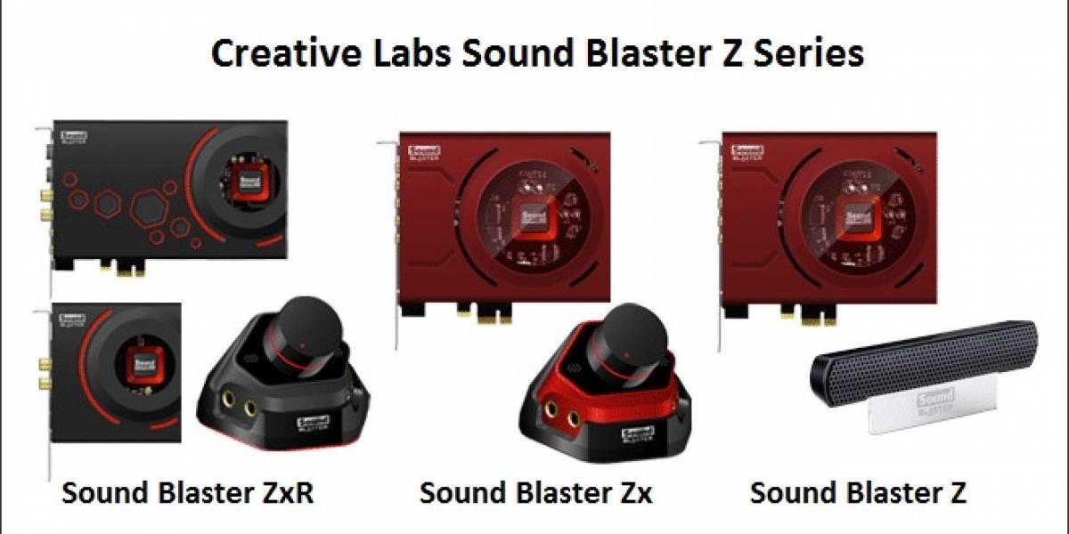 Creative Labs lanza sus tarjetas de sonido Sound Blaster Z Series