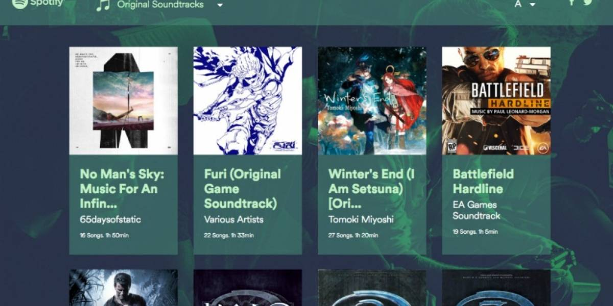 Spotify lanza portal con música de videojuegos