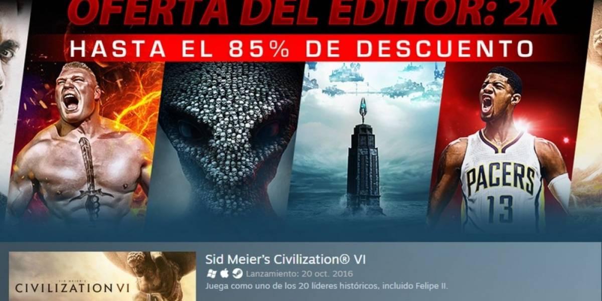 Steam tiene importantes descuentos en juegos de 2K