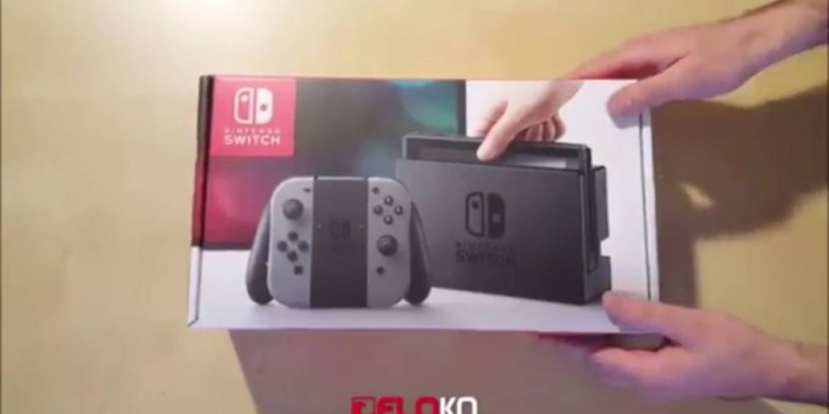 Vean el primer unboxing de la Nintendo Switch