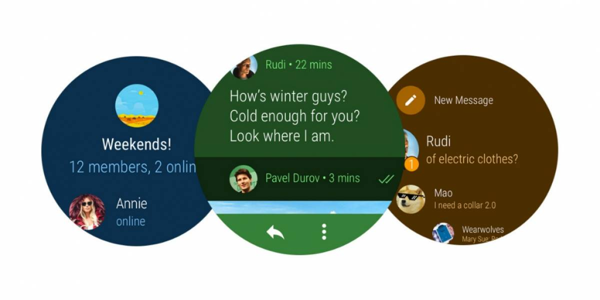 Telegram ya disponible para su descarga en Android Wear 2.0