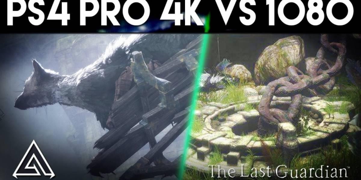 Vean una comparación de The Last Guardian corriendo en PS4 y PS4 Pro
