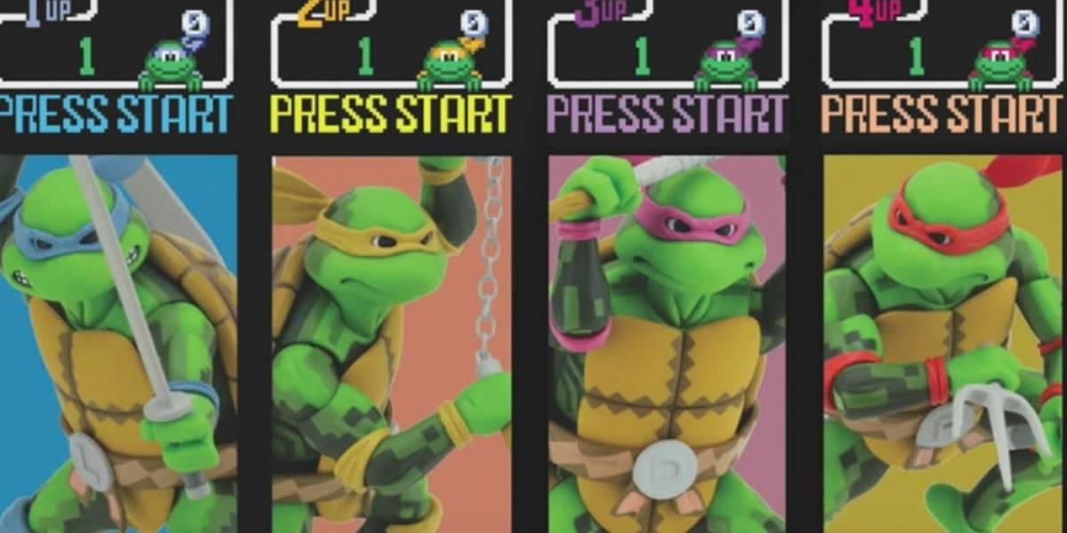 Lanzan figuras de acción basadas en el primer arcade de Las Tortugas Ninja