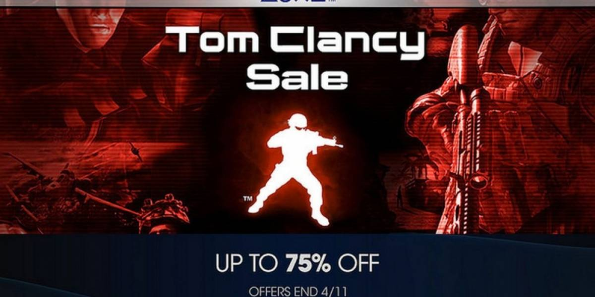 Venta especial de Tom Clancy en PlayStation Store