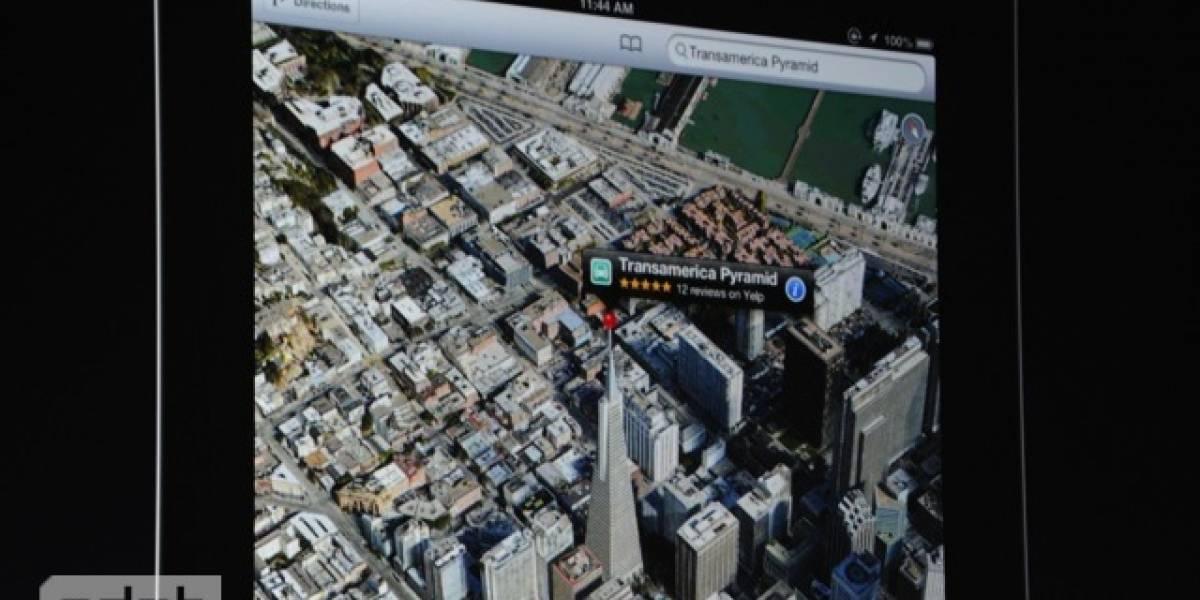 La función de 'flyover' en los mapas de iOS 6 no funcionará en todos los dispositivos