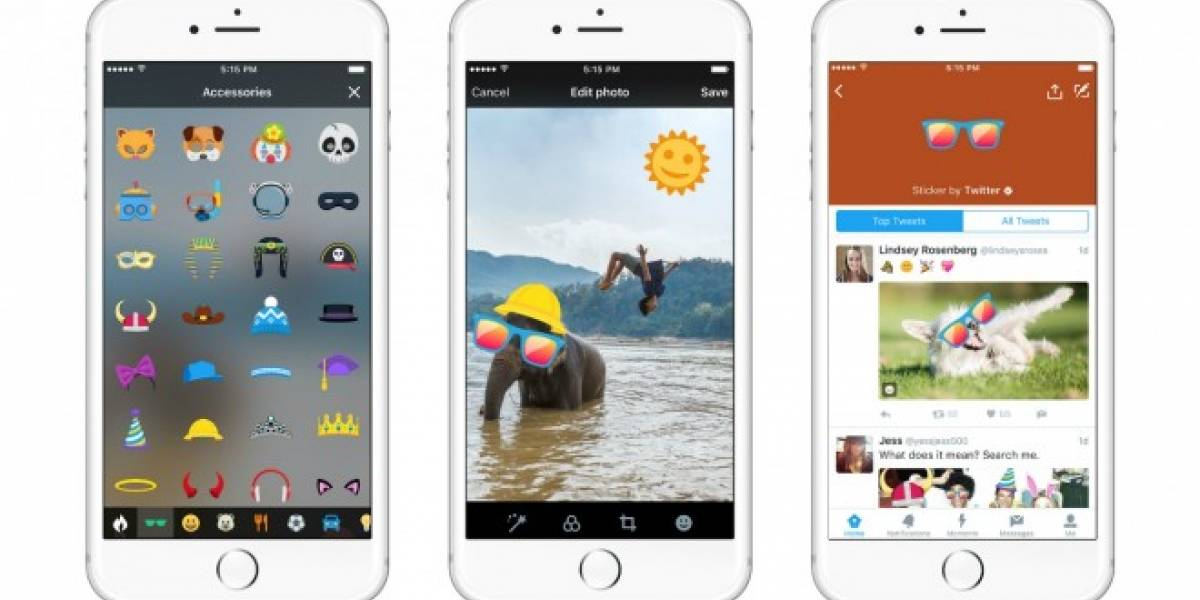 Twitter lanza stickers para competir con Snapchat