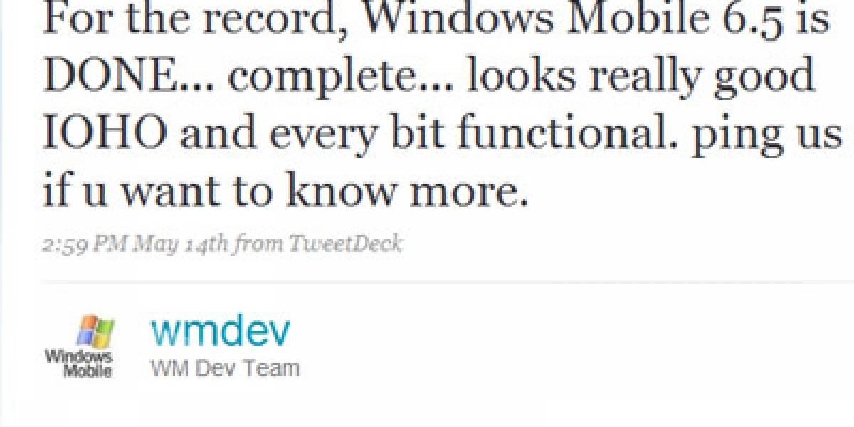 Windows Mobile 6.5 está listo y Twitter fue el encargado de darlo a conocer