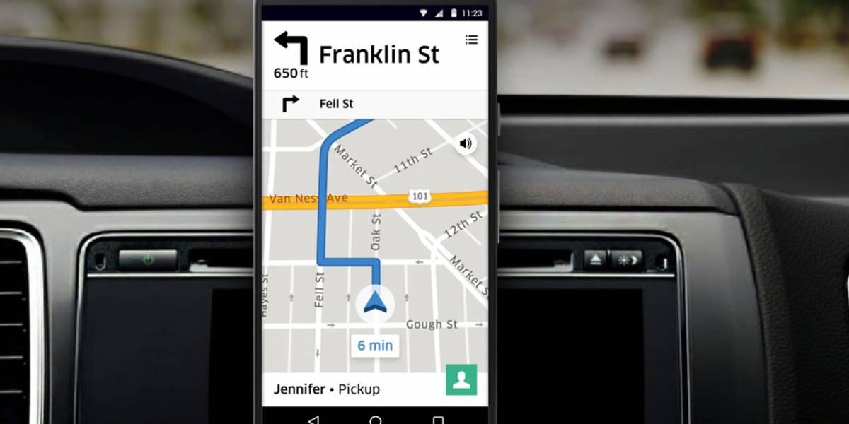La app de Uber para conductores por fin integra navegación GPS