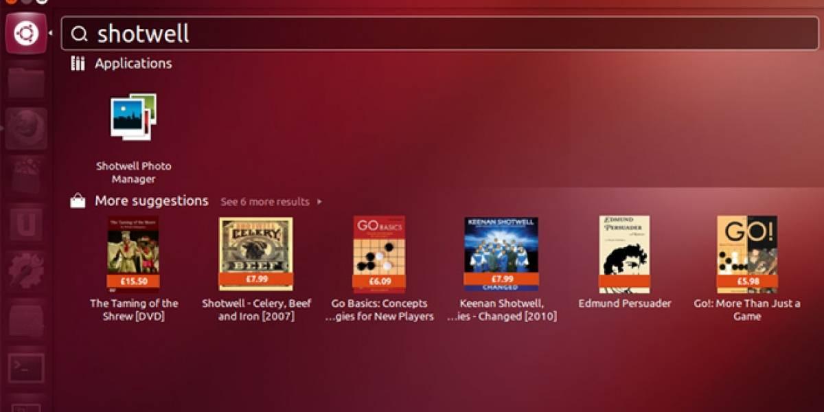 Ubuntu incluye publicidad de Amazon en su Dashboard