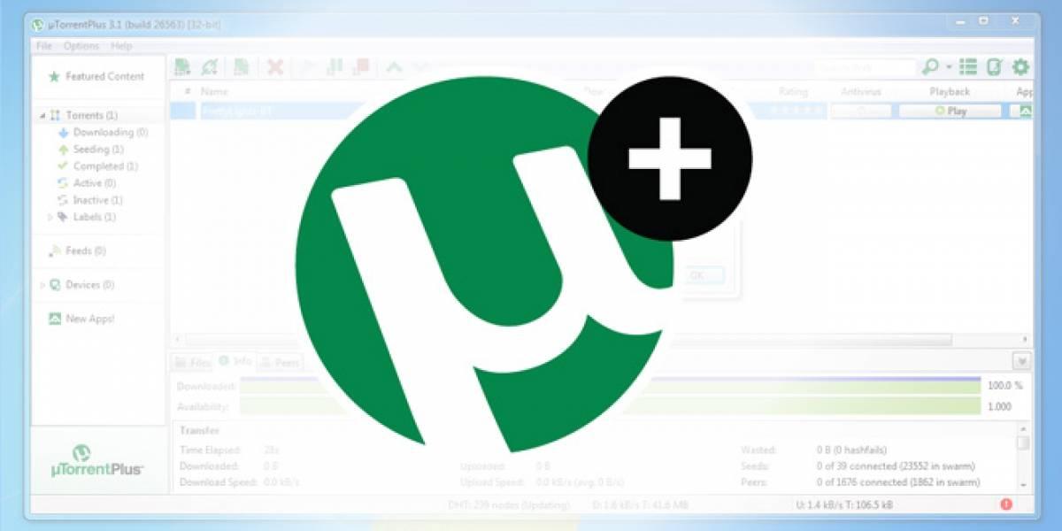 µTorrent Plus hace su estreno como versión de pago