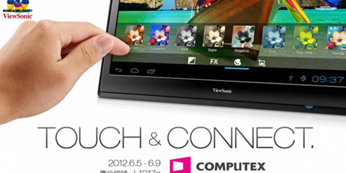 """ViewSonic muestra """"tablet"""" con pantalla de 22 pulgadas"""