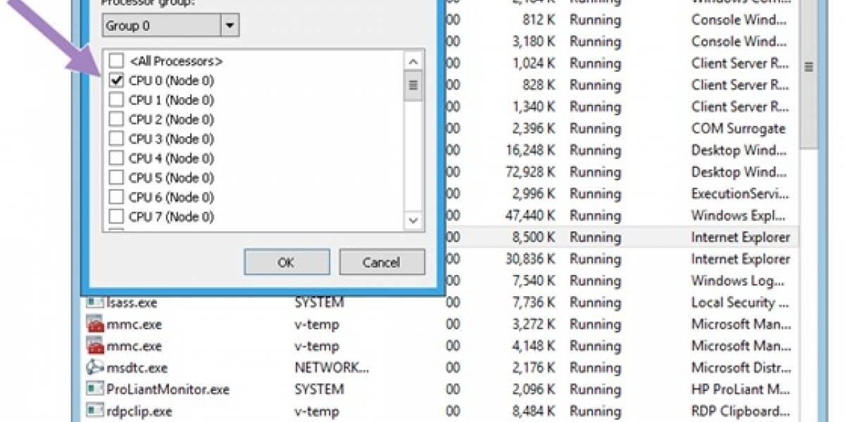 Windows 8: Nuevo Administrador de Tareas con soporte a 640 núcleos
