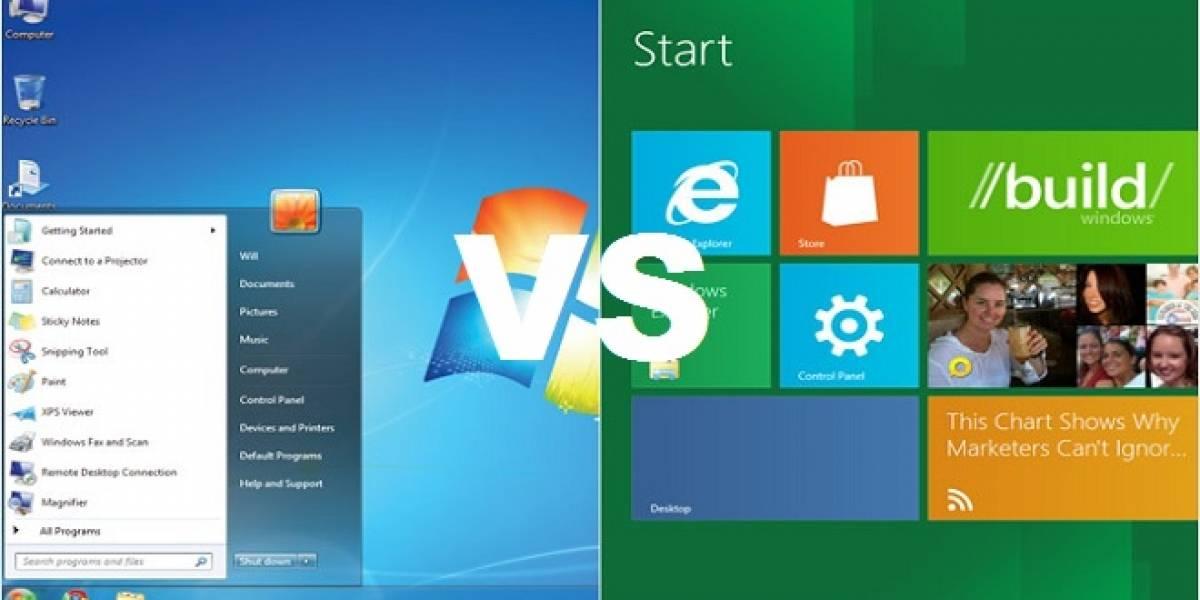 Windows 8 vs Windows 7 probados con 17 juegos