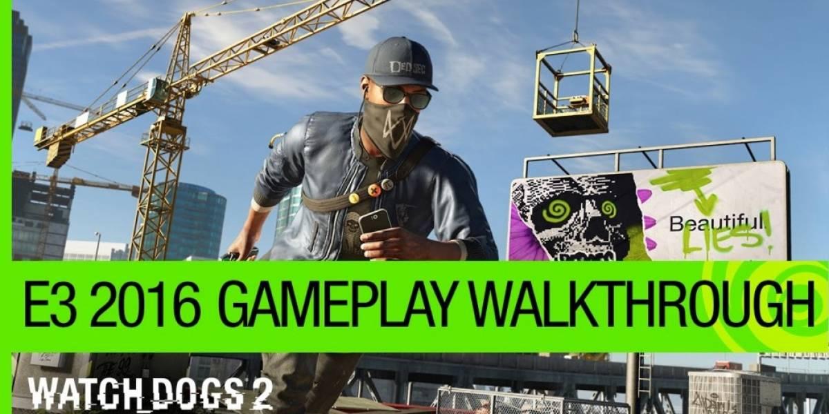 Ubisoft muestra jugabilidad de Watch Dogs 2 #E32016