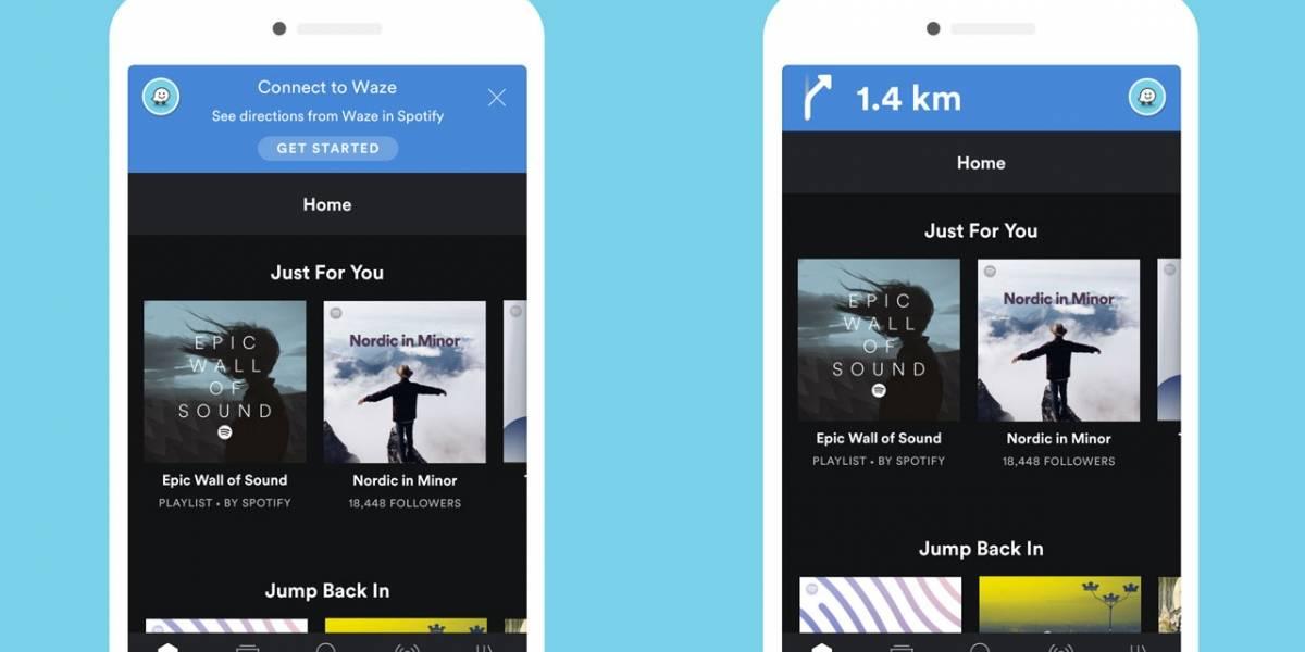 Waze soporta ahora listas de reproducción de Spotify