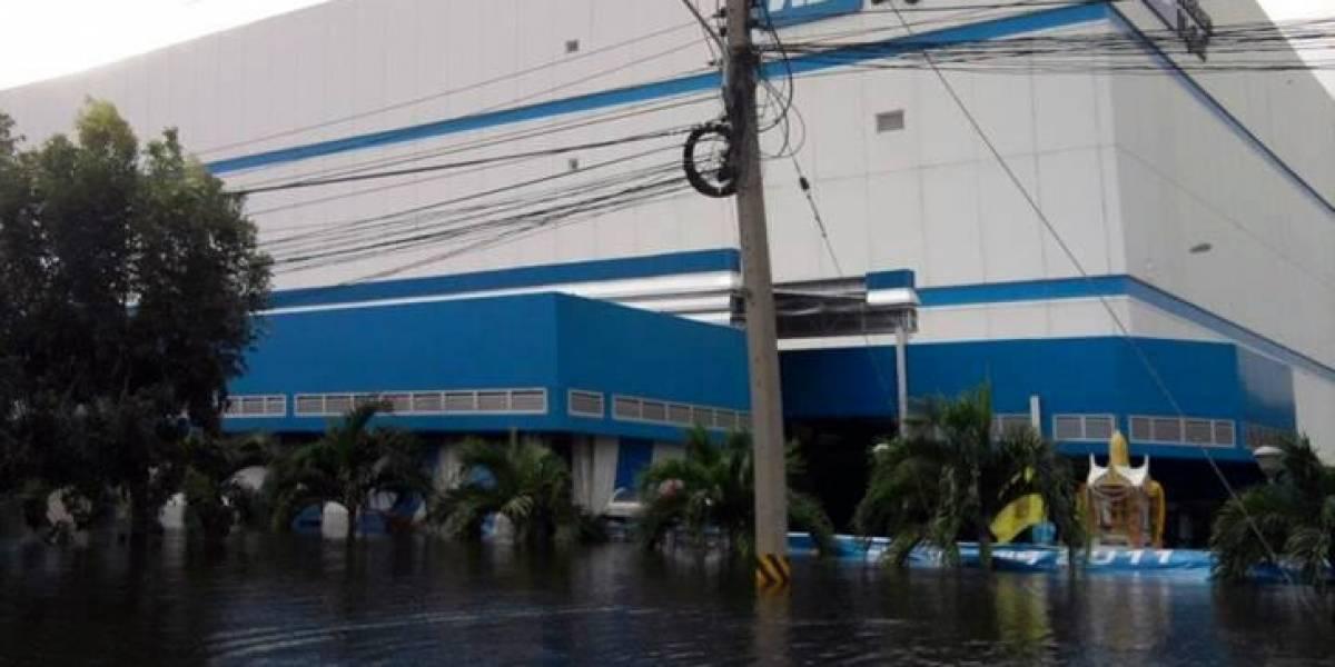 Imágenes de las fábricas inundadas de Western Digital en Tailandia