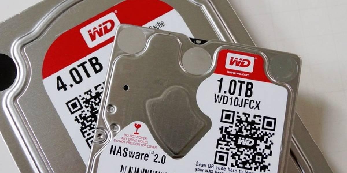 """Western Digital lanza nuevos discos duros RED 4TB 3,5"""" y 1TB 2,5"""""""