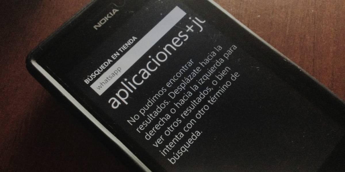 """WhatsApp desapareció de Windows Phone por """"problemas técnicos"""""""