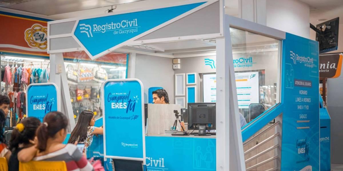 Terminal Terrestre de Guayaquil con nuevo módulo del Registro Civil